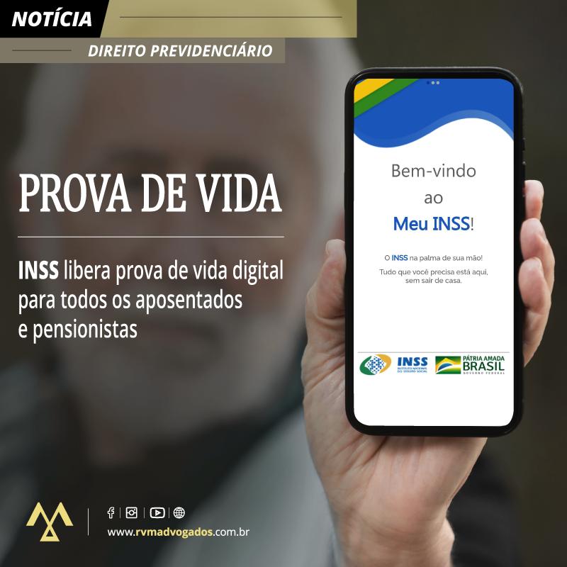 INSS LIBERA PROVA DE VIDA DIGITAL PARA TODOS OS APOSENTADOS E PENSIONISTAS