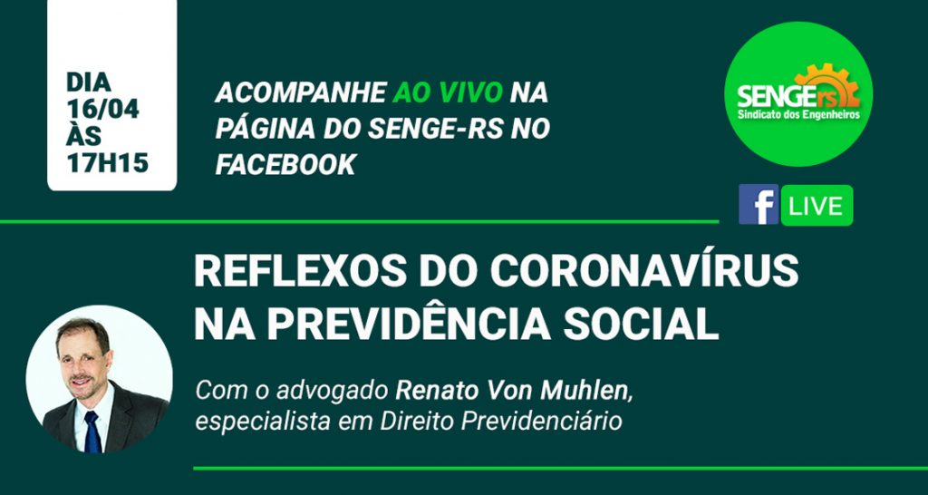 DR. RENATO VON MÜHLEN PARTICIPA COMO PALESTRANTE EM LIVE DO SENGE/RS