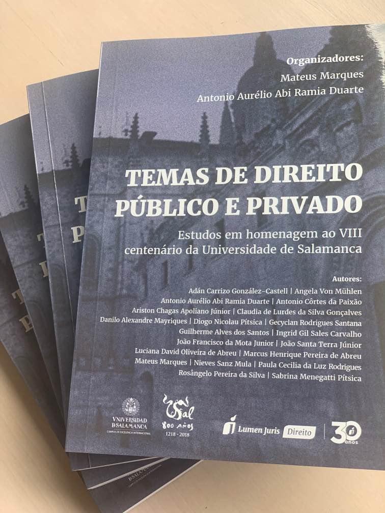 Drª Angela Von Mühlen publica capítulo de livro em obra coletiva homenageando os 800 anos da Universidade de Salamanca (Espanha)